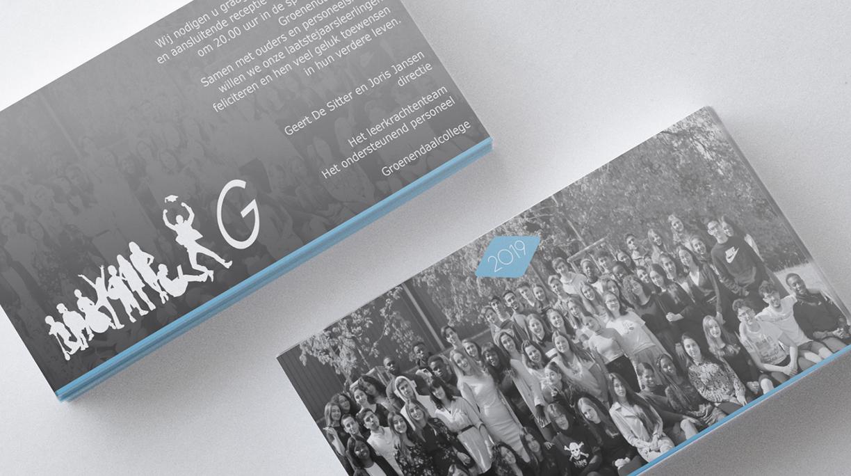 Uitnodigingen proclamatie Groenendaalcollege 2019