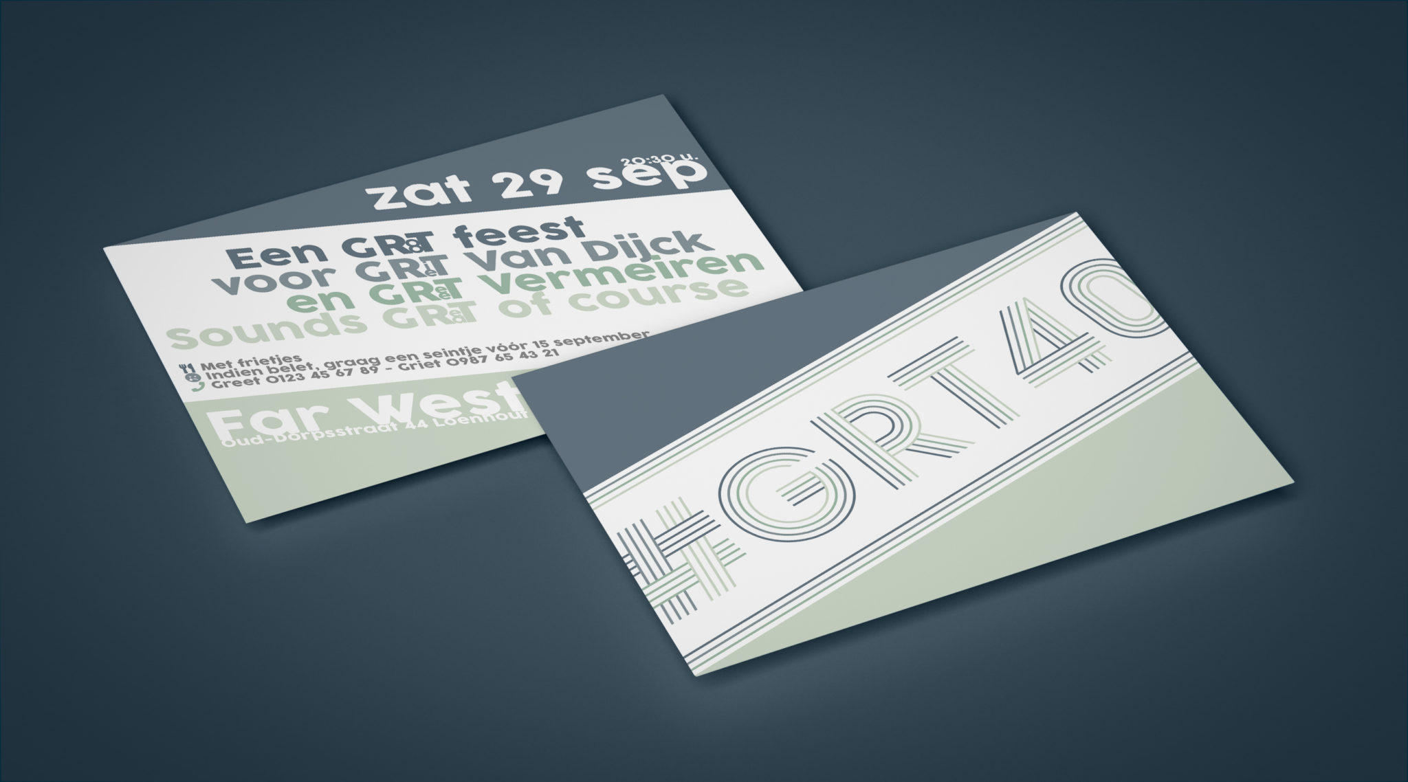 Uitnodiging Greet & Griet 40