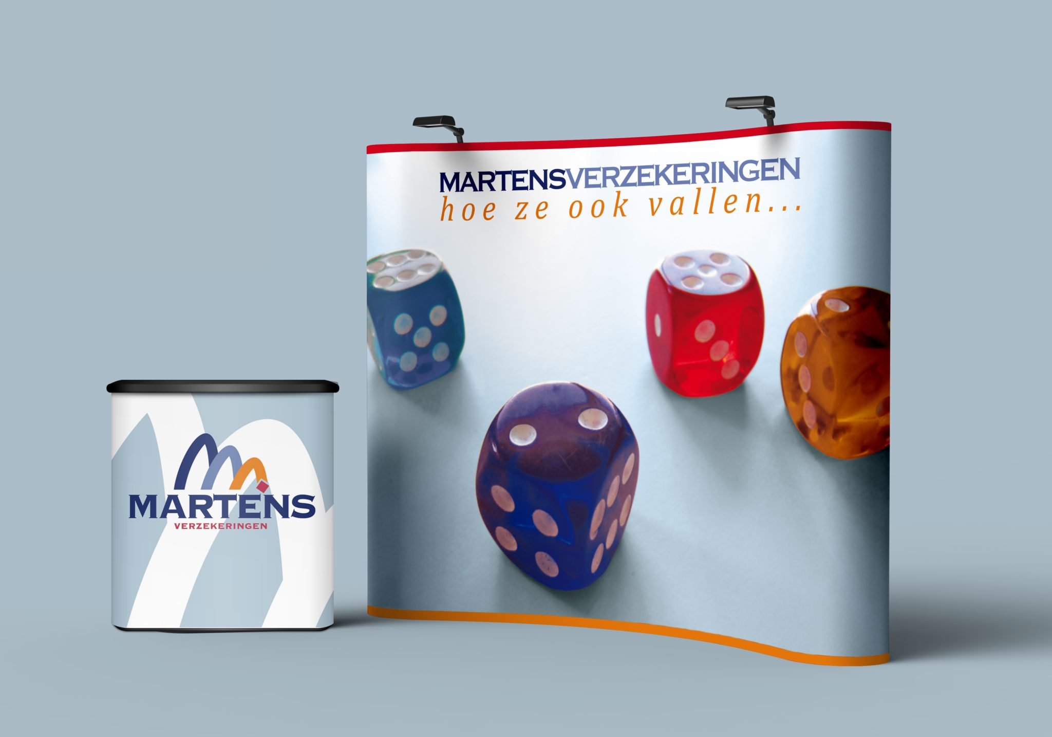 Martens verzekeringen Pop-up stand