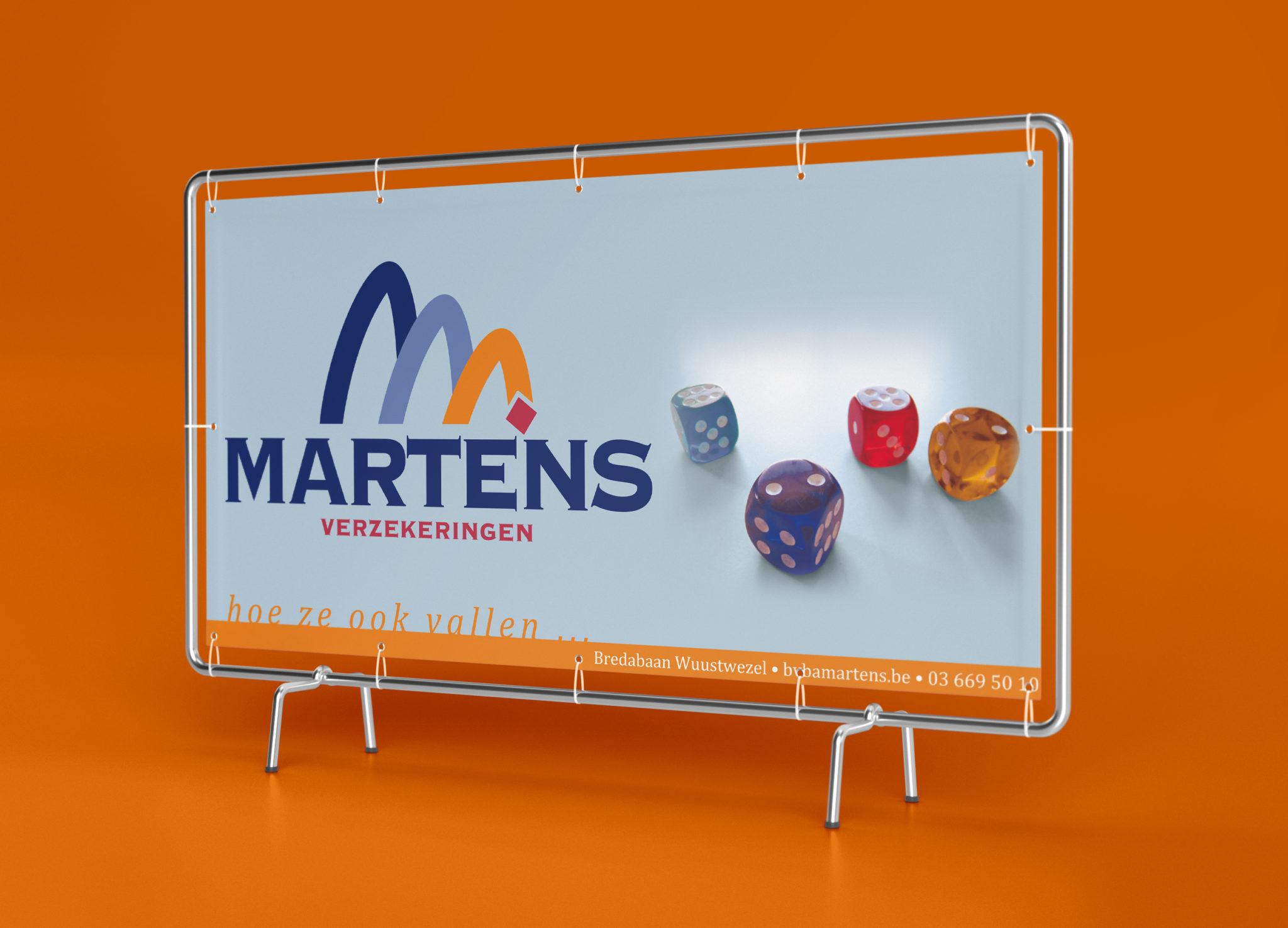 Martens verzekeringen spandoek